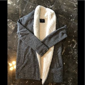 Abercrombie Sherpa Lined Cardigan